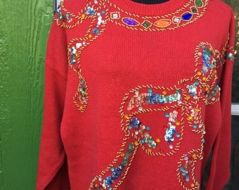 Red Ribbon Sweater