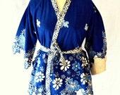 CRAZY SALE Indigo Vintage Batik Indonesian Kimono