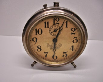 The National Call 8 Day Alarm Clock 1910 Vintage clocks Table Clocks Colcks collectors Clock Repair
