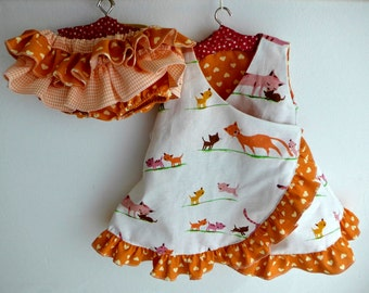 """Doll clothing  dress and bloomers for  18-20"""" dolls"""