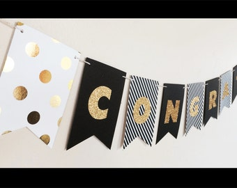 Congrats Banner - Personalized Graduation Banner Kit - You Select the Letters and Colors