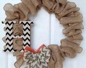 Burlap Monogrammed Wreaths