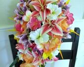 Reserved Listing for Laura M- Custom Stargazer Cascade Bridal Bouquet