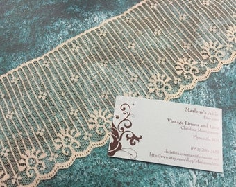 Ivory lace, 1 yard of 4 inch Ivory Chantilly lace trim for wedding, veils, bridal, shabby chic, couture by MarlenesAttic - Item 4R
