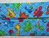 Dinosaur Quilted Butipod Cover Diaper Wipes Case
