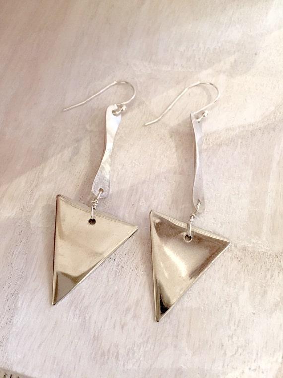 triangle earrings dangle drop earrings. Black Bedroom Furniture Sets. Home Design Ideas