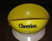 1987 playskool baby yellow cheerios bowl, vintage baby bowls