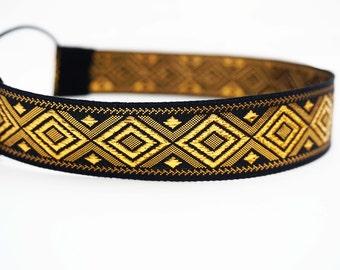 Black and Gold Diamond Pattern Headband