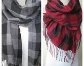 Gray grey Black red burgundy buffalo plaid scarf Man fashion-mad-mens scarf -hijab-2015 trends FASHION Turkish Scarf scarves2012