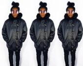 Duffle Coat/ Leather Jacket Women/ Leather Jacket Men/ Leather Bomber/ Eskimo Parka/ Parka Jacket/ Winter Parka/ Womens Parka/ Fur Trim Coat