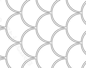 Clam Shell Paper Piecing Template (in 12 Sizes)