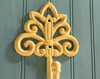 Wall Hook /Yellow Wall Decor / Decorative Wall Hook / Coat Hook / Organization /Bath Hook / Towel Hook
