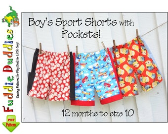 Toddler Shorts pdf sewing Pattern. Easy Boy's Shorts pdf. Beach Shorts. Boy's Sewing Pattern. Toddler Sewing Pattern. Instant Download Daryl