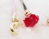 Official Japan Comic Sailor Moon Crystal Prism Stationaly TUXEDO MASK pen box set rose Moonlight Memory