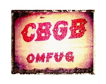 CBGB punk rock  music art print / music gift / rock n roll art / music room decor / guitar gift / man cave art