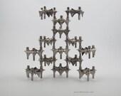 14 BMF nagel candle holders, design vintage stackable candle sticks