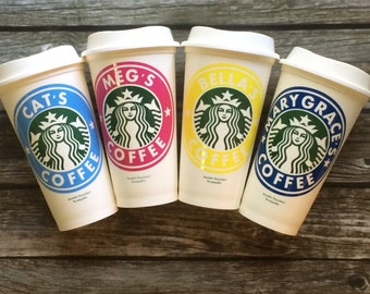 Personalized Coffee Cup- Monogrammed Cup- Monogrammed Coffee Cup- Teacher Gift- Personalized Cup- Starbucks- Coffee Bar- Sorority Gift- Cup