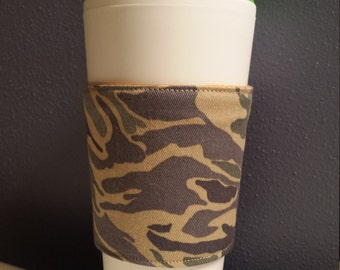 Camouflage Coffee Comforter, Reversible, Insulated