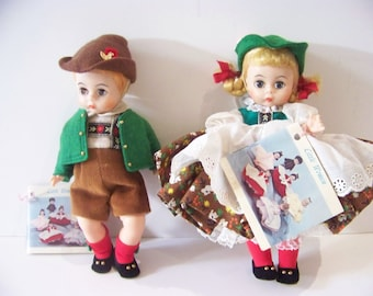 Tyrolean boy and girl madame Alexander 8 in dolls vintage edition