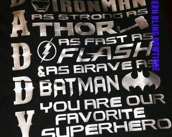Daddy is my Superhero shirt