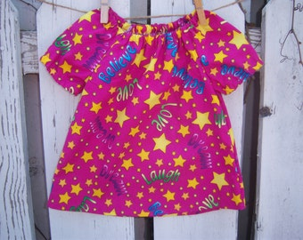 100% Cotton Baby Peasant Dress--Many Sizes Available, Custom-Order Dress