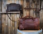 Men's Leather Duffle Bag Mens Weekender Bag Weekend Bag Travel Bag Carry On Duffle Bag Overnight Bag Christmas Gift for Him Mens Christmas