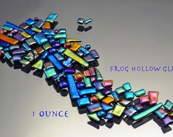 Dichroic Bits & Pieces - Mosaic Tiles - Small Tiles in Rainbow Colors