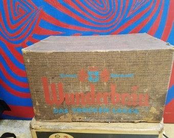 Vintage Circa 1970 Cardboard Carton Crate Case Box Wunderbrau Cincinnati Lager Box Brewery 24 12 oz