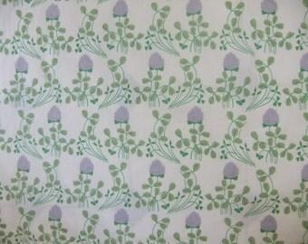 Vintage Swedish cotton fabric - Clover - Åhléns - Monica Lüneburg - Berg design