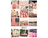 2017 Paris Calendar gift for her 2017 Paris desk calendar 2017 desk calendar 2017 calendar desktop calendar girly gift pink Paris photos
