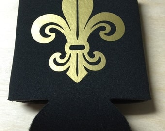 Black coolie with gold fleur de lis