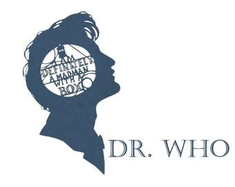 Dr.Who-MATT SMITH-Cricut-Silhouette SVG cut includes eps-dxf-png
