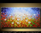 Abstract canvas Painting Palette knife flowers ,Modern Textured Painting,Impasto Landscape Textured ,acrylic Painting on Canvas by Chen xx82