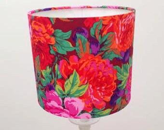 Flower Lamp Shade Medium Lampshade Home Floral Lampshade Medium Fabric Lampshade
