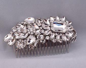 Bridal Headpiece Wedding Hair Jewelry  Bridal Hair Brooch