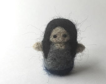 Marceline the vampire queen Adventure Time Needle felted hand felted merino wool miniature collectable handmade felted art