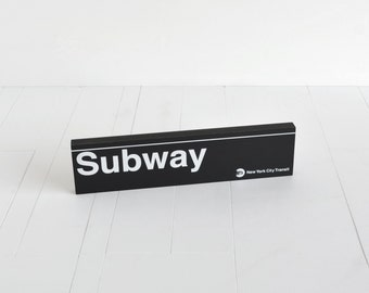 Subway Station Sign - New York City Subway Sign - Wood Sign