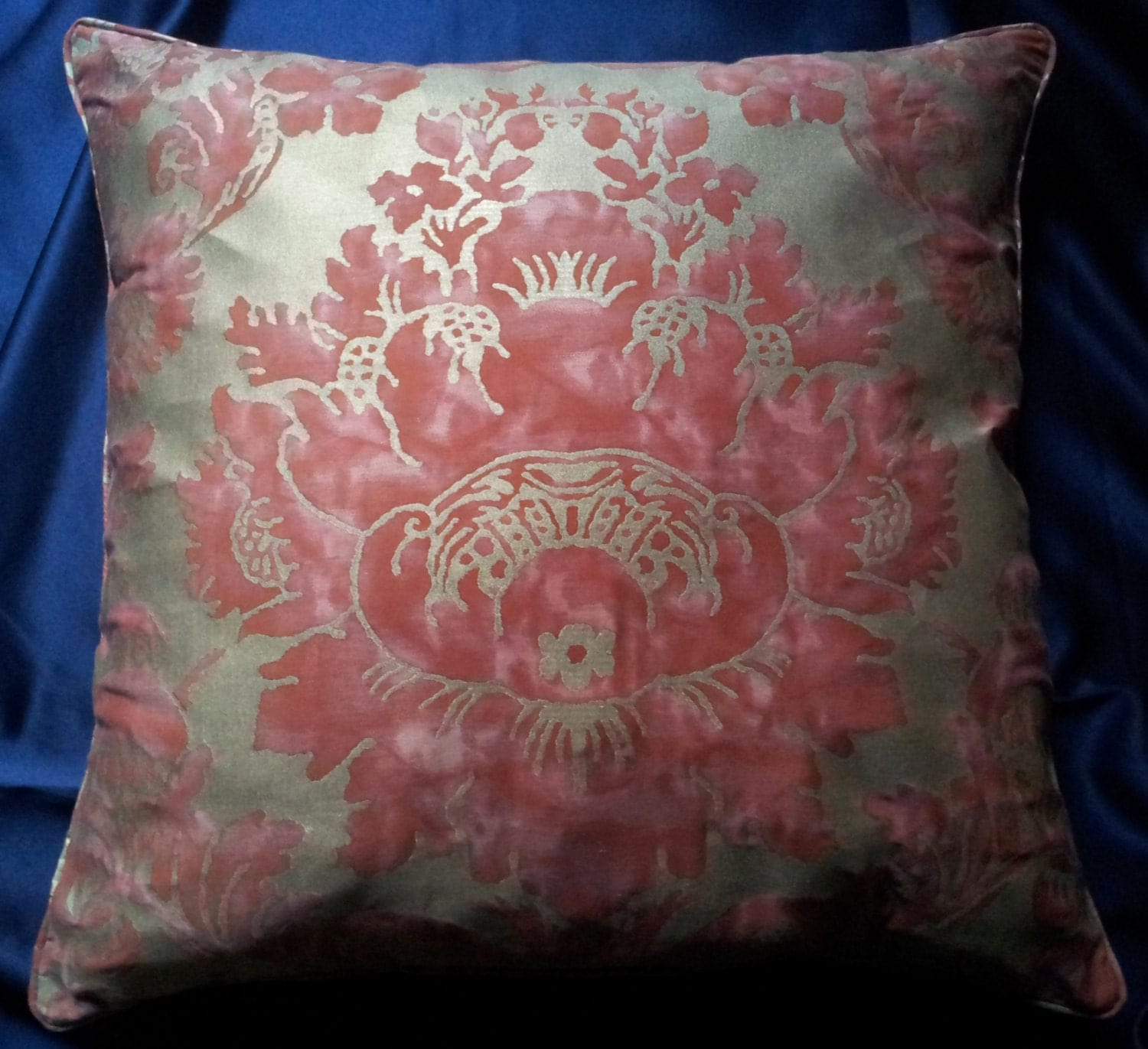 22 x 22 Fortuny Fabric Throw Pillow Cushion Cover