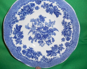 "One (1), 6 1/2"" Soup/Cereal Bowl, from Johnson Bros., in the Asiatic Pheasant Blue Pattern."