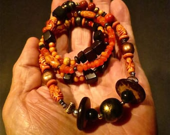 Vintage Beaded Hippie Necklace From Artist Dave Archers Museum