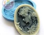 Lady Vic Portrait Cameo 40x30mm Bakery Flexible Mold 218L* BEST QUALITY