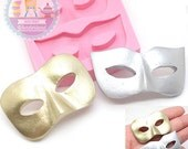 Mask MASQUERADE Set Mold 706m* Flexible Mold Gumpaste Mold Fondant Mold Decorated Cake Sugar Cookie Silicone Mold fimo BEST QUALITY