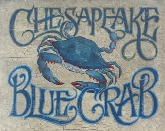 Chesapeake Blue Crab  Print, beach decor