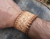 Traditional Hand Tooled Leather Cuff