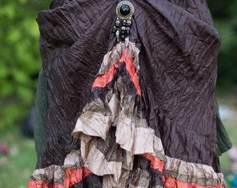 Brown Tribal handcrafted bustle by Hustle n Bustle