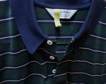 vintage Brooks Brothers short sleeve cotton green/navy  sport shirt