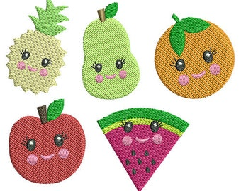 Fruit Minis Embroidery Design Set - Instant Download
