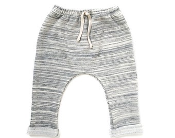 Gray Marl Beach Loungers. Kids pants, french terry cotton jersey.
