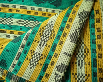 Aztec Fabric, Peruvian Fabric, Woven, Green Luca, 2 Yards