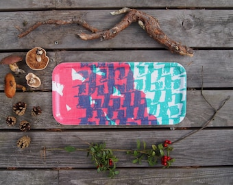 Choppy Cocktail Tray in Pink & Green **NEW**